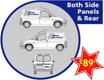 Sign print graphix vehicle graphics colour stickers for Van sign writing templates